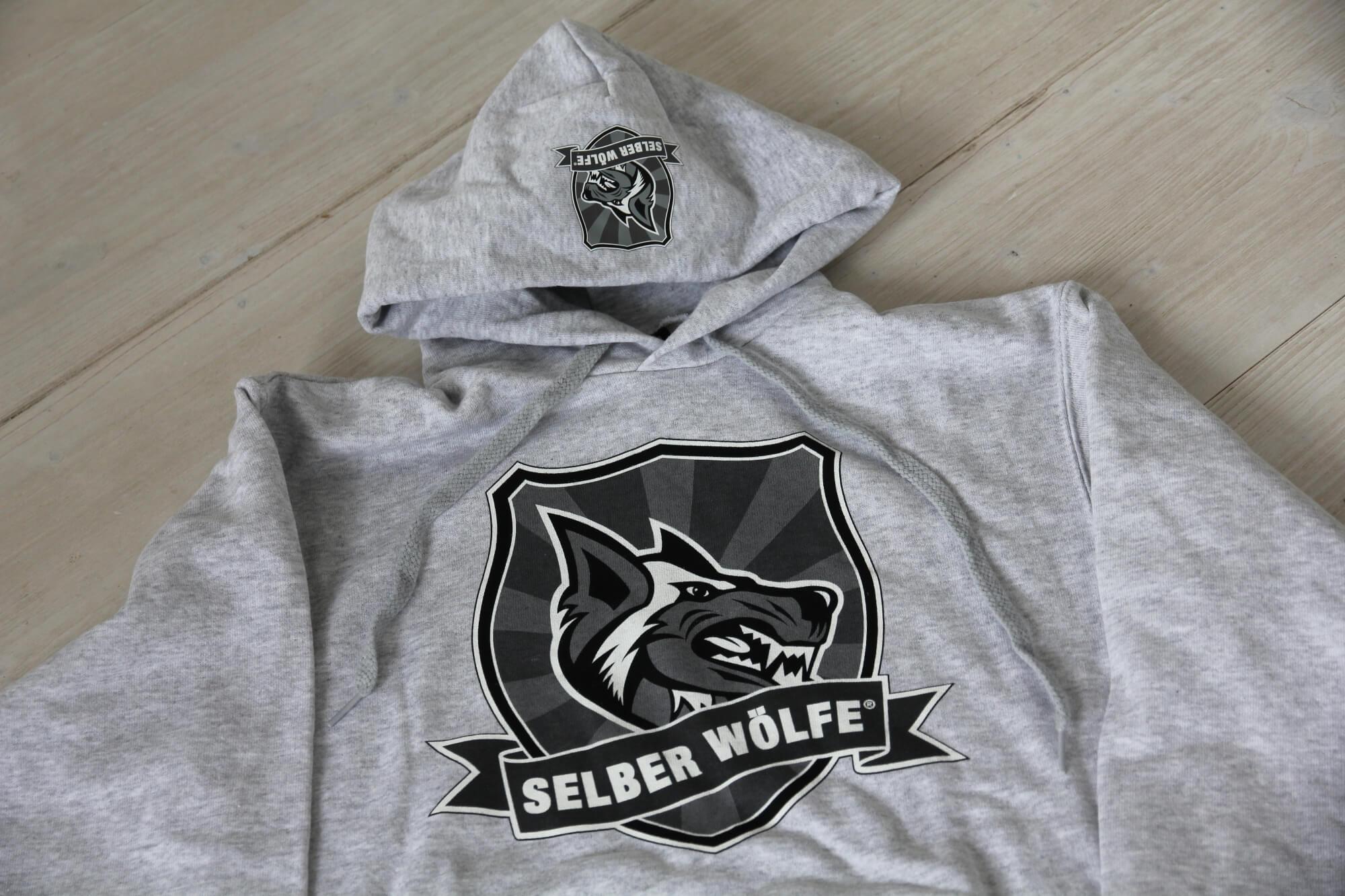 Selber Wölfe Hoody grau