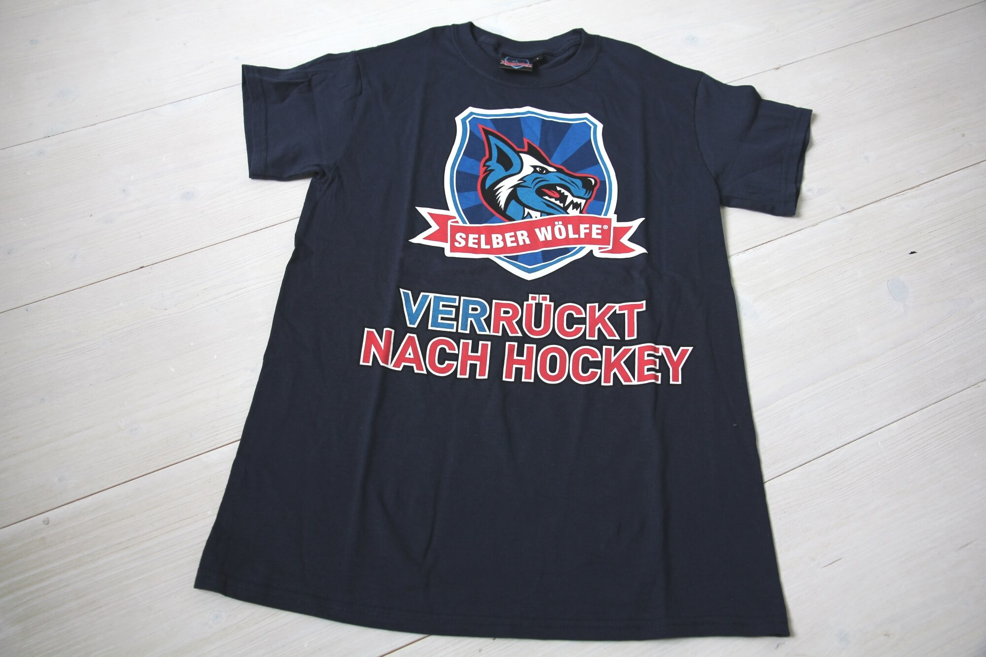 Selber Wölfe T-Shirt blau