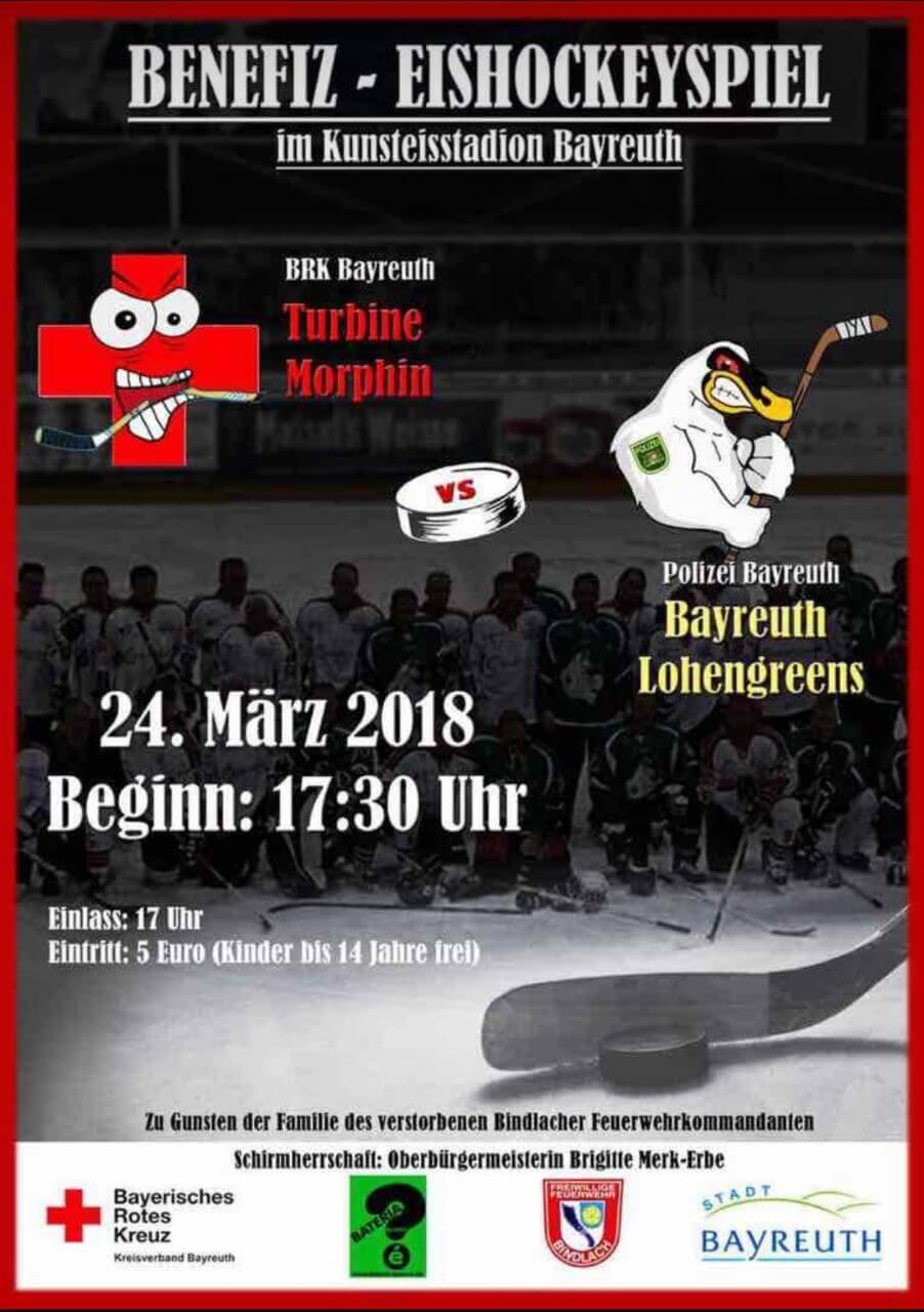 Eishockey-Benefizspiel in Bayreuth <br>Zwei Mützen – ein guter Zweck