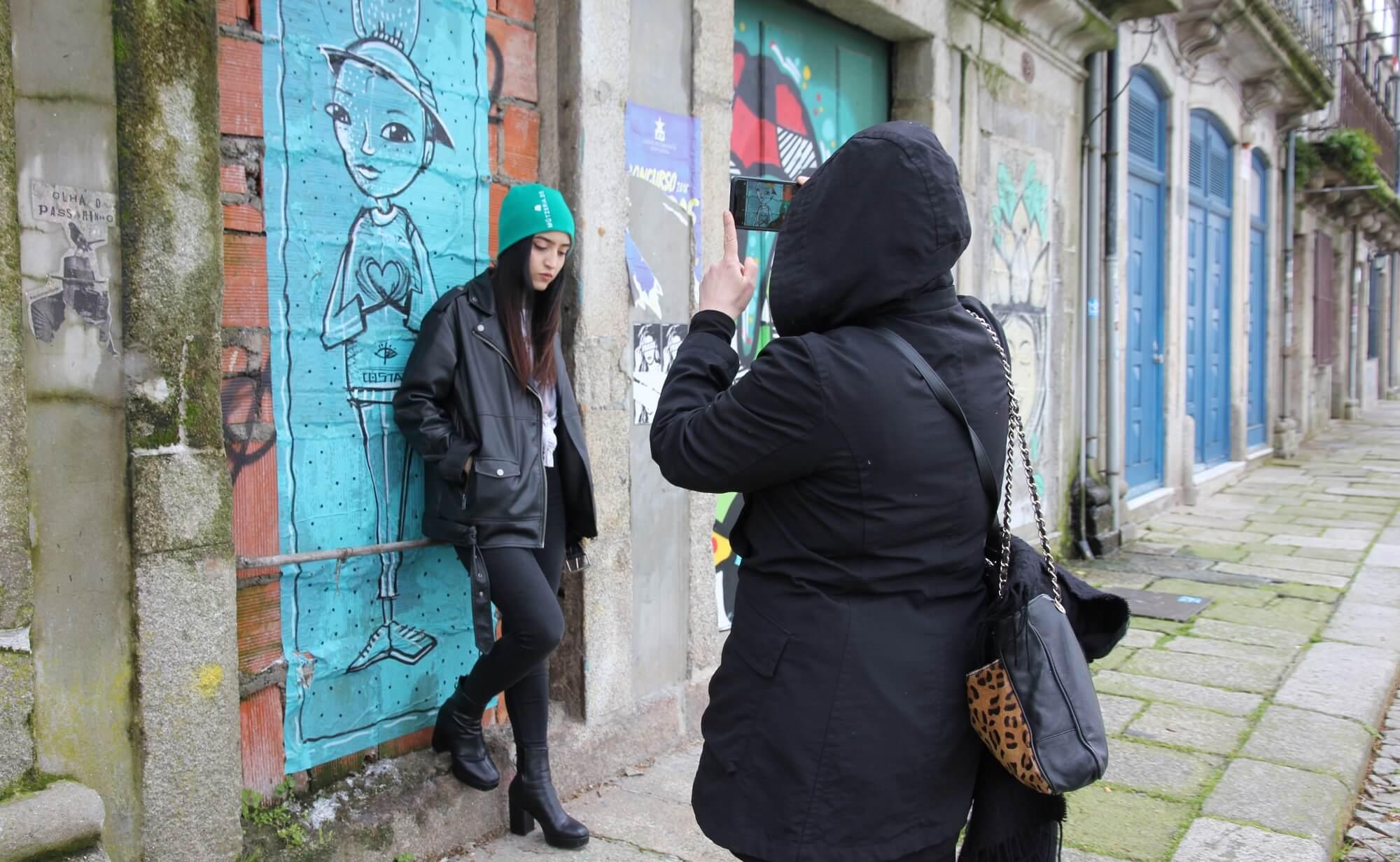 Porto Street-Art Fotoshooting