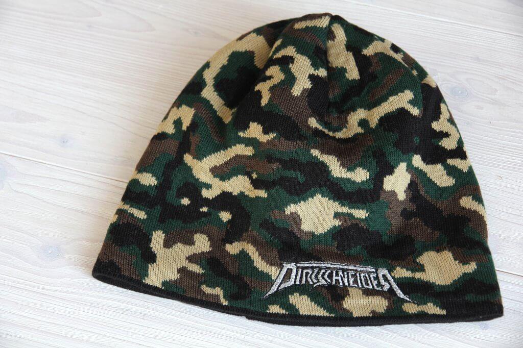 Bandmerch Camouflage-Beanie bestickt silber
