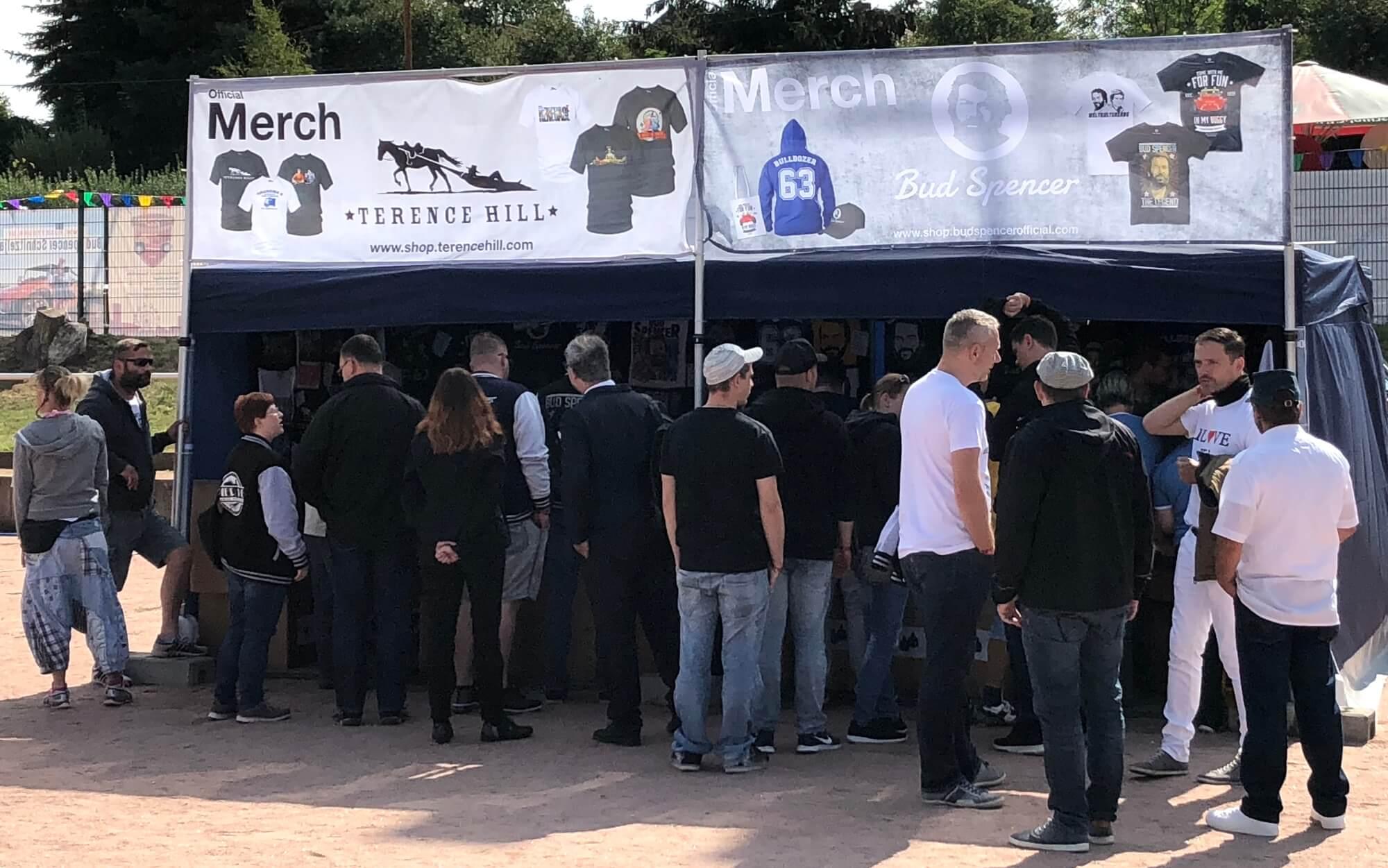 Strickmützen, Badetücher, Banner <br>Merchandise für Fans von Bud Spencer und Terence Hill