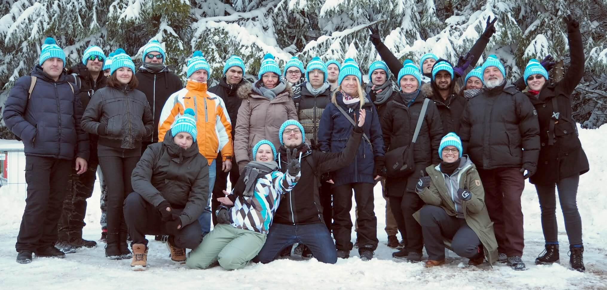 Team Erlebnisgastronomie mit Pudelmützen