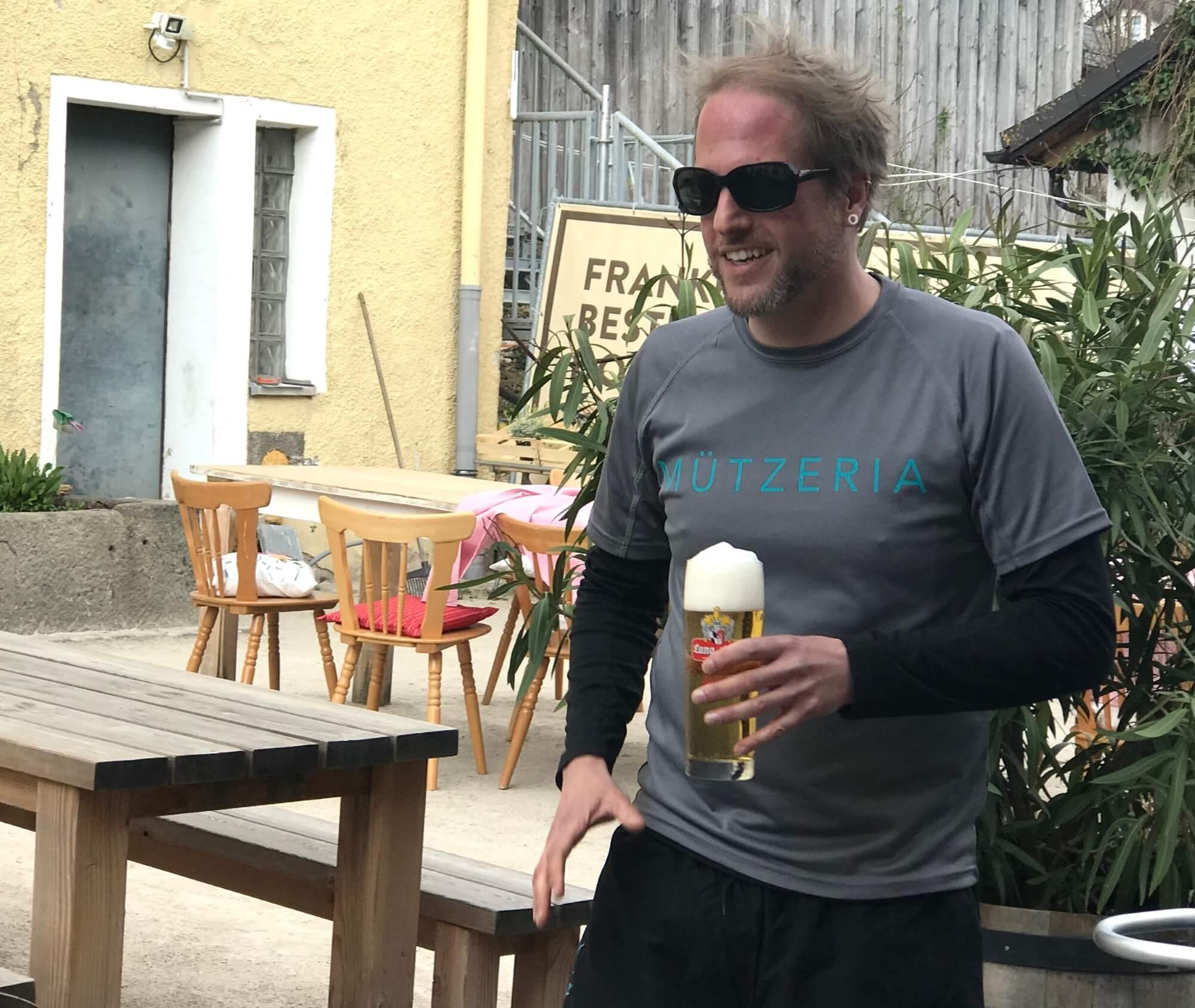 MÜTZERIA Marathon Bier für Björn