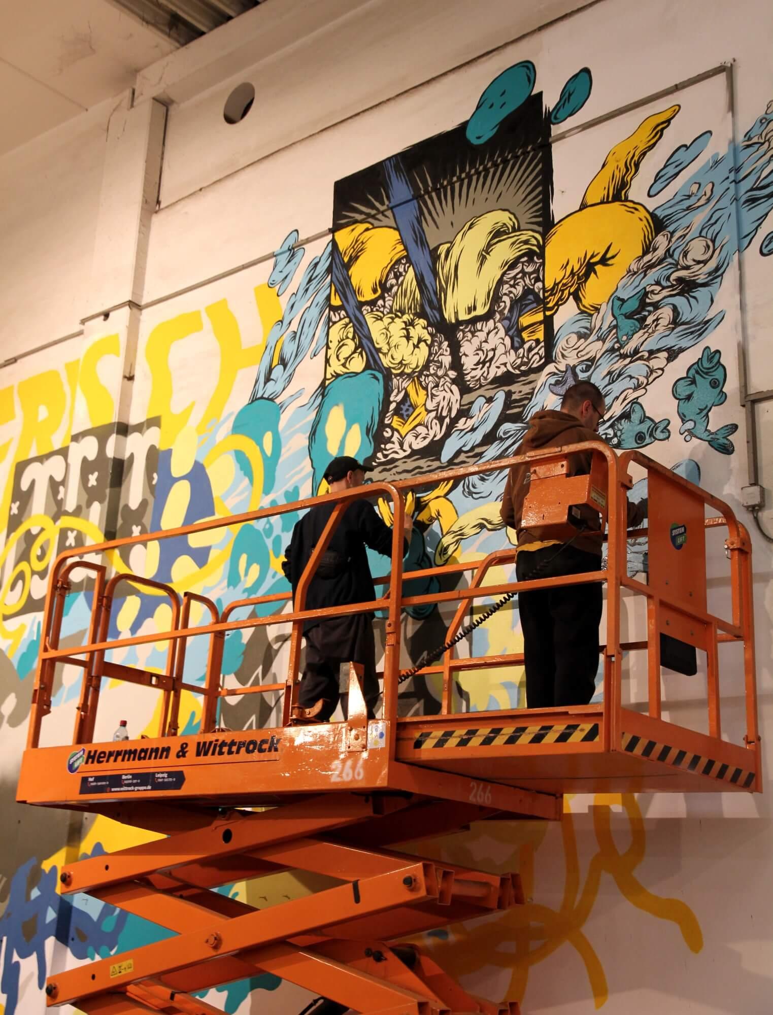 Arbeitsbühne Street-Art