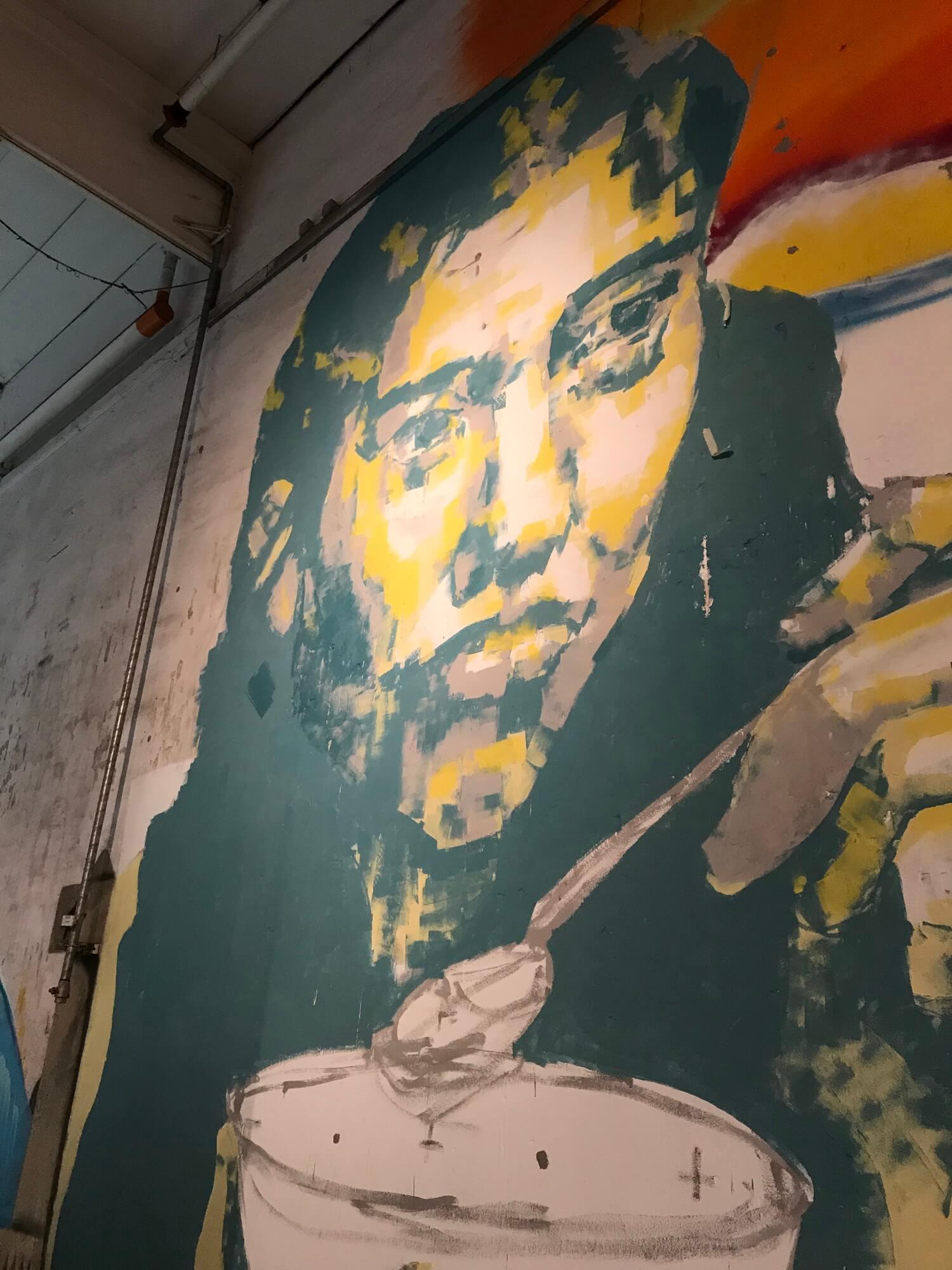 Gemälde Wand Halle
