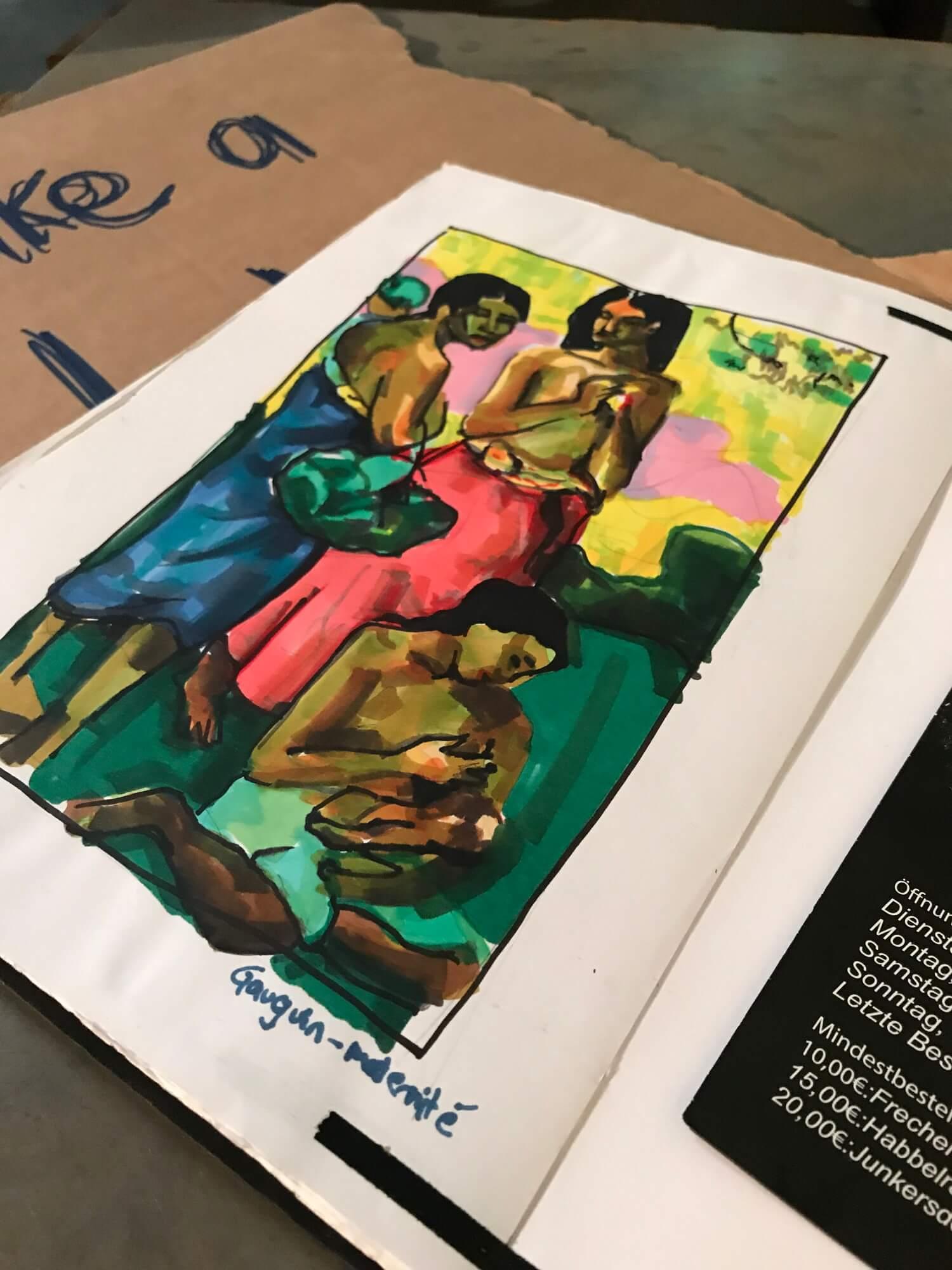 Skizze Buch Frauen