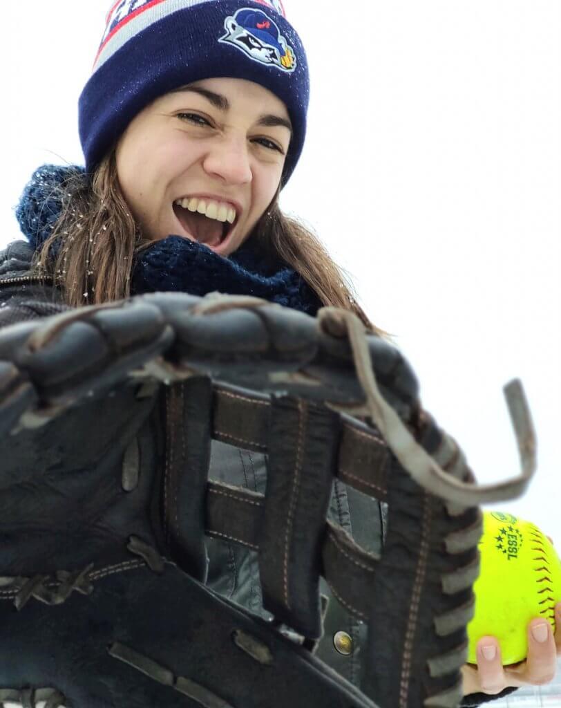 Mütze Softball Österreich Fanghandschuh