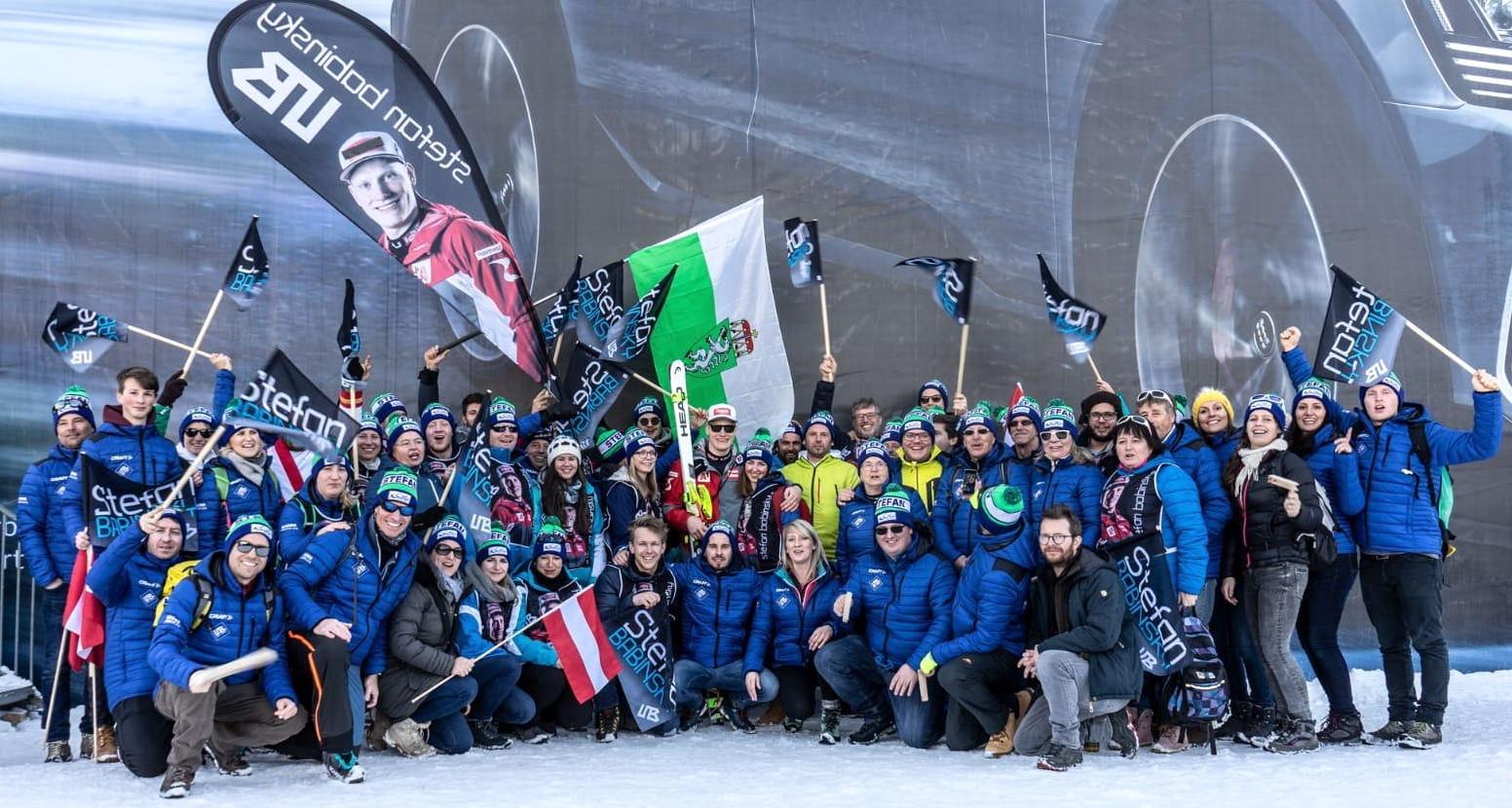 Hauben fürs Skiweltcup-Debüt in Kitzbühel<br>SC Gaal Fanclub Stefan Babinsky