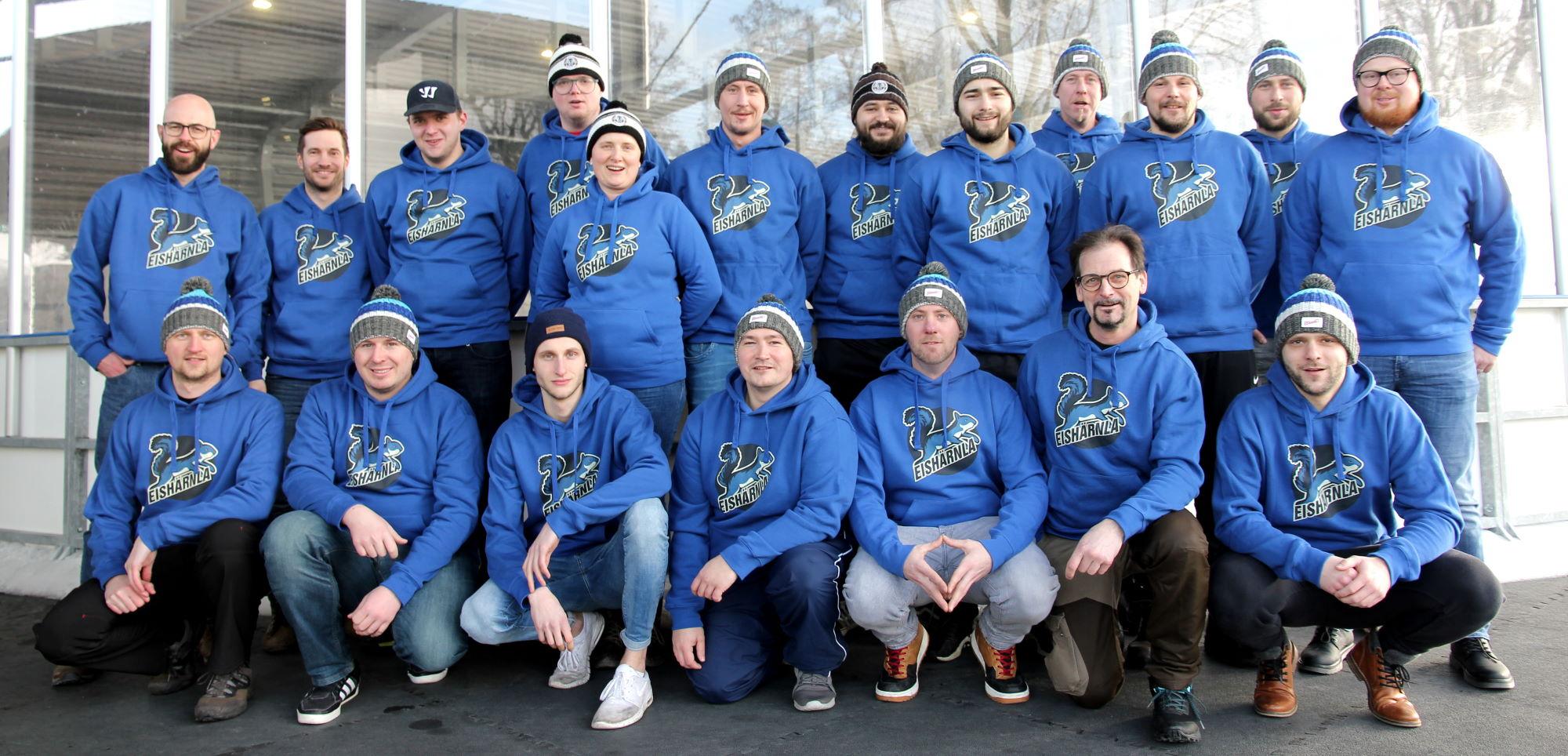 Mützen, Hoodies, Shirts für Eishockey-Freizeitteam <br>Hockey mit Herz für Kinder