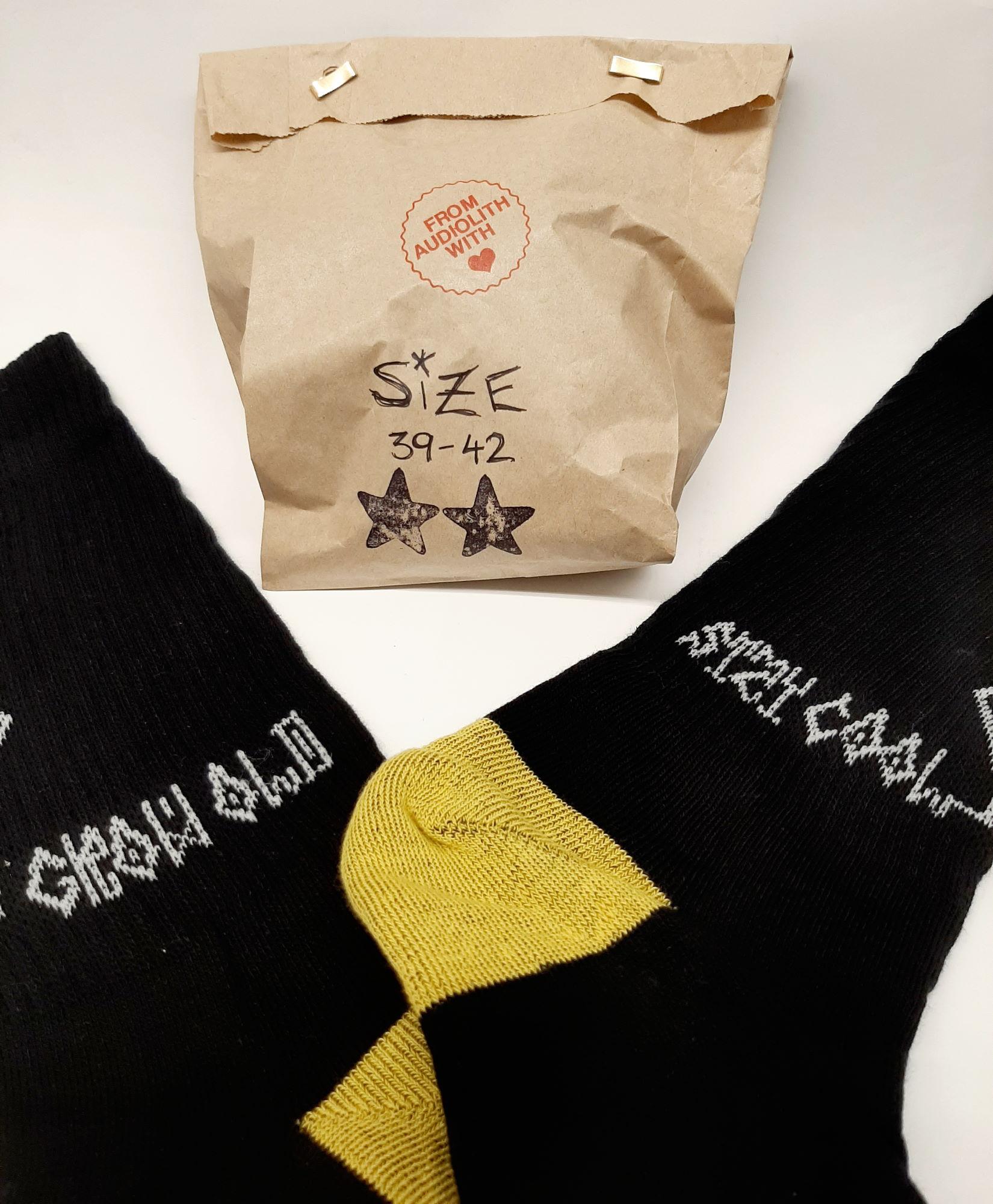 Socken selbst gestaltet Papiertüte